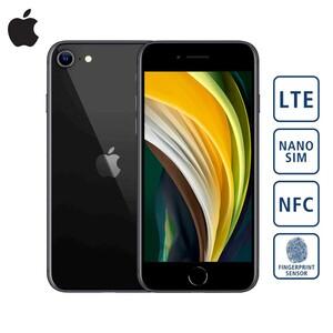 "iPhone SE 2020 - 64 GB · Retina-HD-Display · A13 Bionic Chip · 12-MP-Rückkamera mit Weitwinkelobjektiv · 7-MP-Frontkamera · Siri, Update auf iOS 14 verfügbar  Bildschirmdiagonale: 4,7""/11,94 c"