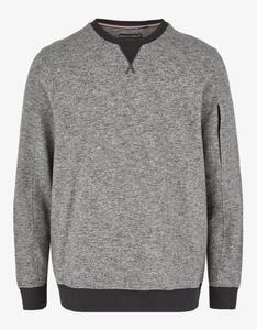 Bexleys man - Meliertes Sweatshirt mit Reißverschlusstasche am Ärmel