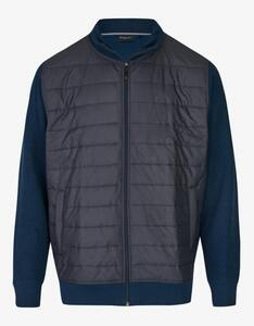 Bexleys man - Sweatjacke im Materialmix