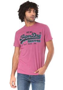 SUPERDRY Vintage Logo Panel Lite - T-Shirt für Herren - Pink