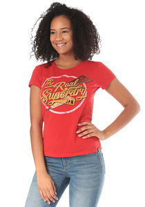 SUPERDRY The Real Sparkle Entry - T-Shirt für Damen - Rot