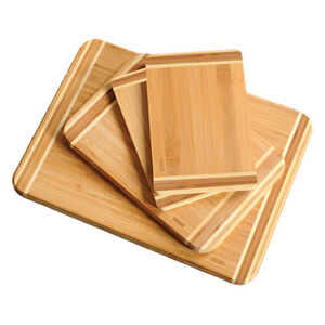 Kesper Schneidbrett Set 4-teilig Bambus
