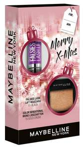 Maybelline New York X-Mas Set Falsies Lash Lift Mascara Black + Color Sensational Mono Lidschatten Nr. 15