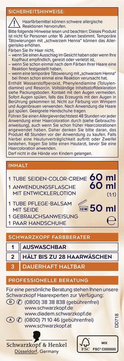 Bild 2 von Schwarzkopf Diadem Seiden-Color-Creme 718 Haselnuss
