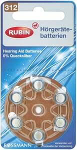 RUBIN Hörgerätebatterien Nr. 312