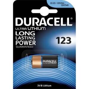 Duracell Ultra CR123 Lithium Batterie