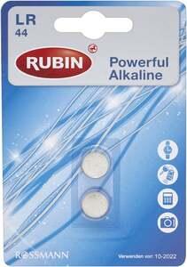 RUBIN Batterie ALkaline LR 44