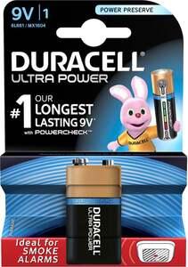 Duracell Ultra Power Alkaline 9 V Batterie