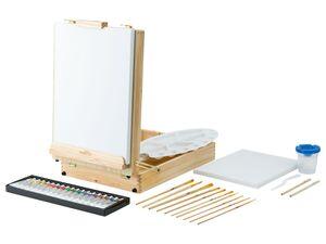CRELANDO® Tischstaffelei FSC im Koffer 52tlg.