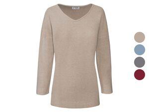 HUCKE Berlin Pullover Damen, mit V-Auschnitt, mit Viskose