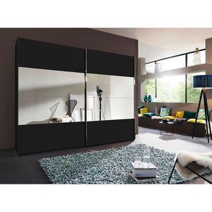 home24 Rauch Steffen Schwebetürenschrank 20UP II Schwarz Matt mit Spiegel 300x235x68 cm (BxHxT) 2-türig Spanplatte Modern