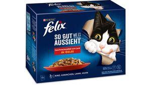 felix Katzennassfutter So gut wie es aussieht in Gelee Geschmacksvielfalt vom Land 12x85g