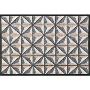 Esposa Fußmatte 50/75 cm graphik grau, beige , Kubus , Textil , 50x75 cm , rutschfest, für Fußbodenheizung geeignet , 004336016689