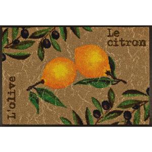 Esposa Fußmatte 50/75 cm zitronen multicolor, beige , LE Citron , Textil , 50x75 cm , rutschfest, für Fußbodenheizung geeignet , 004336021989