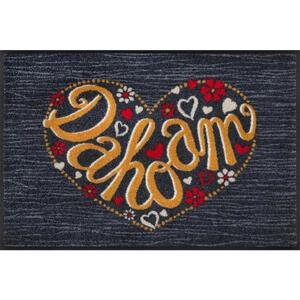 Esposa Fußmatte 50/75 cm texte grau, orange , Dahoam , Textil , 50x75 cm , rutschfest, für Fußbodenheizung geeignet , 004336022989