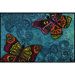 Esposa Fußmatte 50/75 cm schmetterling blau , Spread Your Wings , Textil , 50x75 cm , rutschfest, für Fußbodenheizung geeignet , 004336029389