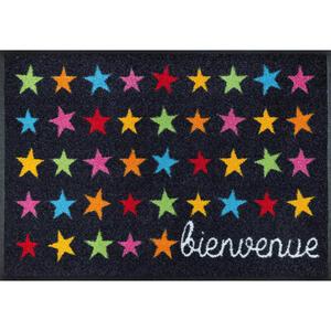 Esposa Fußmatte 50/75 cm stern multicolor, dunkelgrau , Bienvenue Etoile , Textil , 50x75 cm , rutschfest, für Fußbodenheizung geeignet , 004336037889