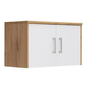 Xora Aufsatzschrank 72/43/36 cm weiß, eichefarben , Easy , Kunststoff , 72x43x36 cm , Nachbildung , 000017003332