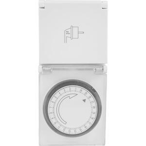 Homeware Zeitschaltuhr weiß , Tg-24 - Ip44 , Metall, Kunststoff , 7.3x8.4x15.6 cm , matt , 005035000501
