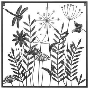 Ambia Home Wanddeko metall , Kb253-191202103 , Schwarz , 81.6x81.6 cm , lackiert , rostfrei , 0031690638