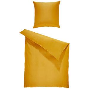 Bio:Vio Bettwäsche satin gelb 135/200 cm , Merada , Textil , Uni , 135x200 cm , Satin , 004378011105
