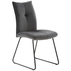 Livetastic Stuhl beschichtet grau, schwarz , Cinque , Metall, Textil , 46x89x62 cm , pulverbeschichtet,beschichtet , 001261000301