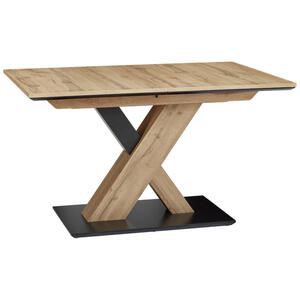 Venda Esstisch rechteckig schwarz, eichefarben , Tomy , 85x75.5x130(170) cm , Nachbildung , ausziehbar, in verschiedenen Größen erhältlich , 000675013002