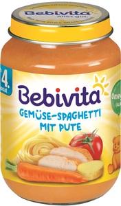 Bebivita Gemüse-Spaghetti mit Pute ab 4. Monat 190 g