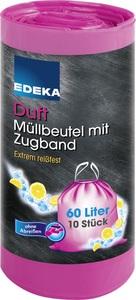 EDEKA Duft Müllbeutel mit Zugband 60L 10 Stück
