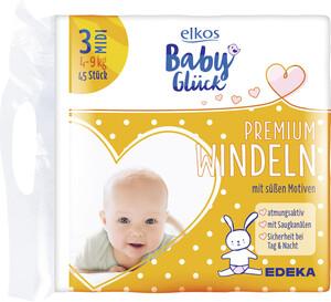 elkos Babyglück Windeln Größe 3 Midi 4-9 kg 45 Stück
