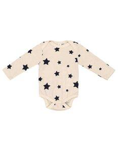 Newborn Langarmbody mit Sternemuster