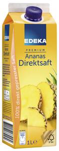 EDEKA Premium Ananas Direktsaft 1 ltr