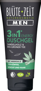 Blüte-Zeit Men 3in1 Duschgel Sandelholz & Bio-Grüner Tee mit Meersalz 200ML