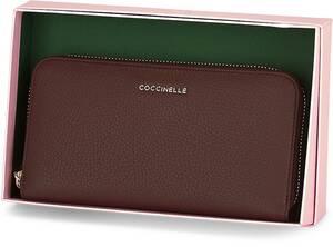Coccinelle, Geldbörse Metallic Soft in dunkelbraun, Geldbörsen für Damen
