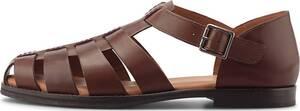 COX, Leder-Sandale in mittelbraun, Sandalen für Herren