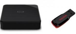 WD Festplatte SE 4 TB ,  inkl. Sandisk USB Stick 16 GB