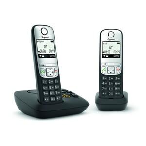 Gigaset Telefon AE690A DUO anthrazit ,  2 Mobilteile, schnurlos, mit Anrufbeantworter
