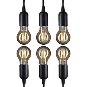I-Glow Leuchtmittel Filament Gold - Birne, E27, 4W 6er Set
