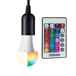 Osram Farbwechsel-RGB-LED-Leuchtmittel, 2er-Set - Birne E27