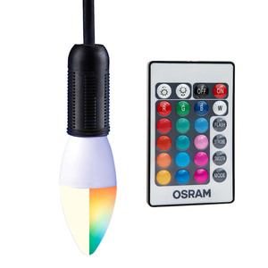 Osram Farbwechsel-RGB-LED-Leuchtmittel, 2er-Set - Kerze E14
