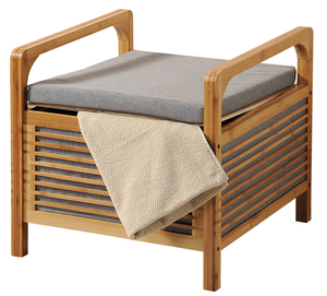 Kesper Bambus-Sitzhocker inkl. Sitzkissen