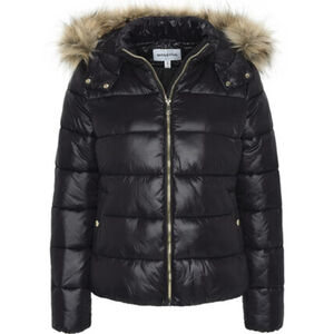 MANGUUN Winterjacke, Fellkapuze, Taschen, für Damen