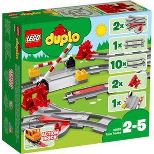 LEGO® DUPLO Bundle 10874 Dampfeisenbahn + 10882 Eisenbahnschienen