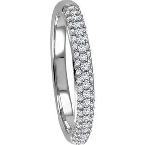 Vandenberg Damen Ring, 375er Weißgold mit 58 Diamanten