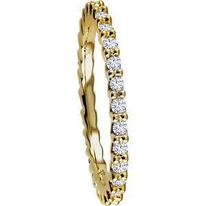 Vandenberg Damen Ring, 375er Gelbgold mit mind. 27 Diamanten