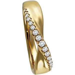 Vandenberg Damen Ring, 375er Gelbgold mit 17 Diamanten