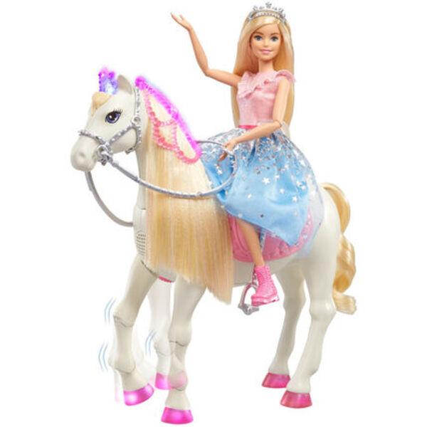 """Barbie """"Prinzessinnen Abenteuer"""" Tanzendes Pferd und Puppe (blond)"""