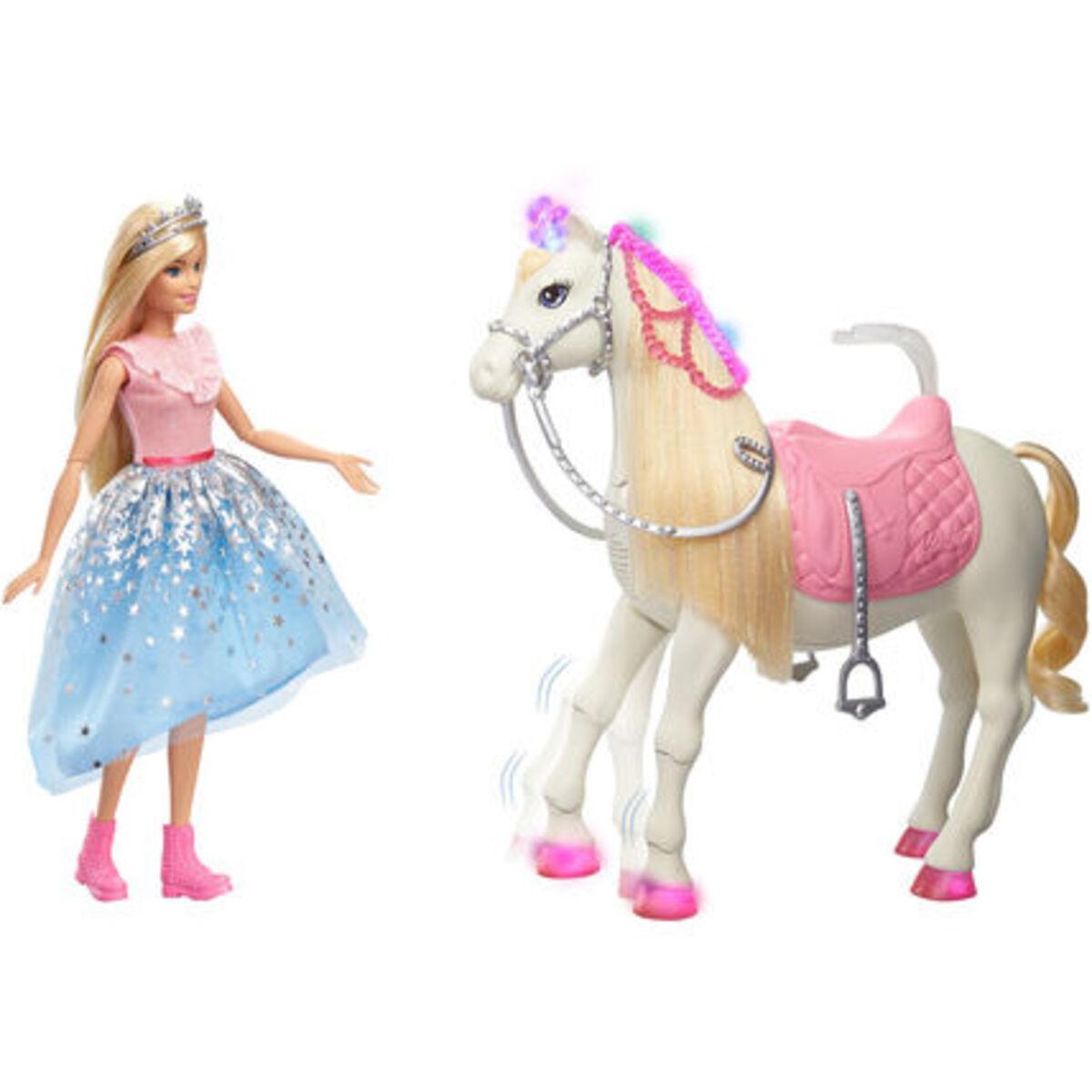 """Bild 3 von Barbie """"Prinzessinnen Abenteuer"""" Tanzendes Pferd und Puppe (blond)"""