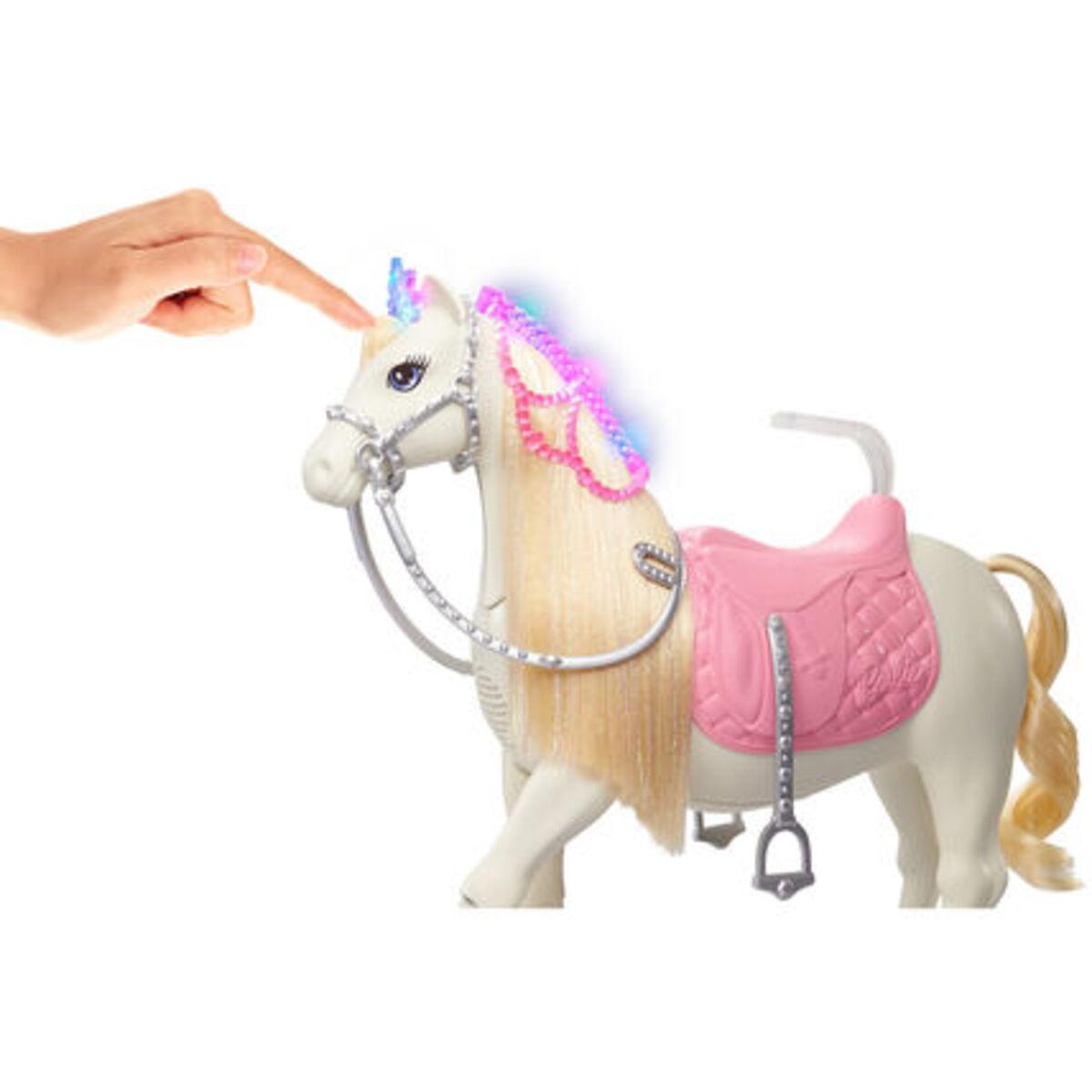 """Bild 4 von Barbie """"Prinzessinnen Abenteuer"""" Tanzendes Pferd und Puppe (blond)"""