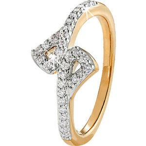 Vandenberg Damen Ring, 375er Gelbgold mit 32 Diamanten